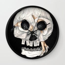 Tarot Reader Girl - Optical Illusion Skull Wall Clock