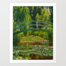 Claude Monet Impressionist Landscape Oil Painting-The Japanese Footbridge and the Water Lily Pool Art Print