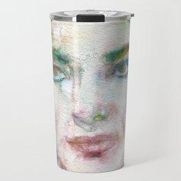 MARIA CALLAS - watercolor portrait Travel Mug