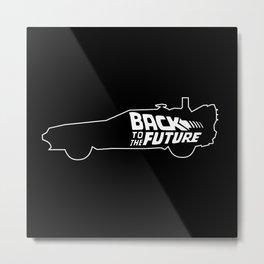 Back To The Future, DeLorean, 30th anniversary, 1985-2015, black background Metal Print