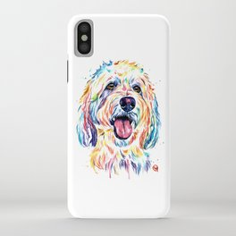 Goldendoodle, Golden Doodle - Dog Portrait Watercolor Painting iPhone Case
