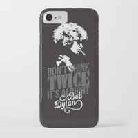 bob dylan iPhone & iPod Cases featuring Bob Dylan by JaimieHallarn