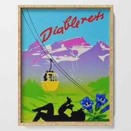 Diablerets Mountain Swiss Alps Travel Serving Tray