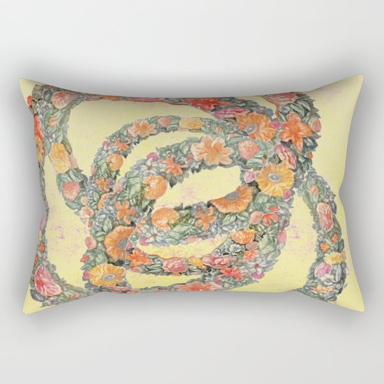 The consolation in a flower Rectangular Pillow
