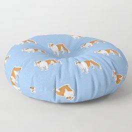 British Bulldog Floor Pillow