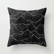 The Dark Mountains Throw Pillow