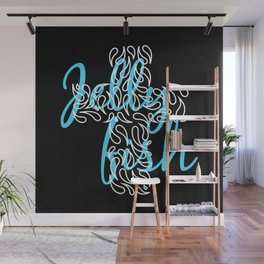 Jellyfish Cross Black Wall Mural