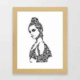 Kanji Calligraphy Art :woman's face #30 Framed Art Print