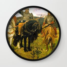 Viktor Vasnetsov Bogatyrs Warrior Knights Wall Clock