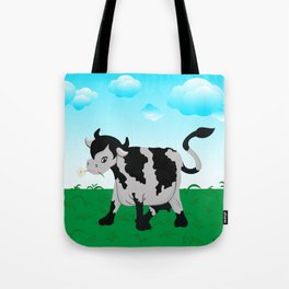 Cow on a meadow Tote Bag