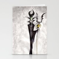 maleficent Stationery Cards featuring Maleficent by Jena Sinclair