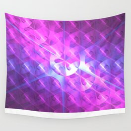 Shiny Purple Button Wall Tapestry