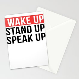 Activism   Wake Up Stand Up Speak Up Stationery Cards