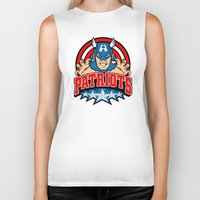 patriots Biker Tanks featuring Patriots by Buby87