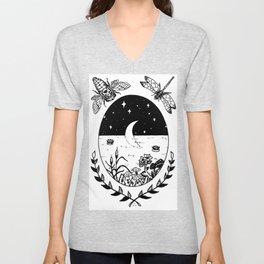 Moon River Marsh Illustration Unisex V-Neck