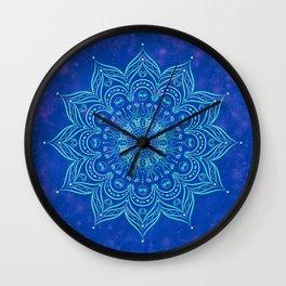 Galaxy Blue Mandala Wall Clock