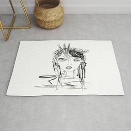 Zen Soul Awakening Abstract Face Art No.2 Rug