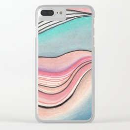 Pastel Marble Clear iPhone Case