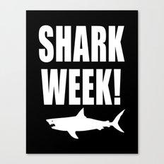 Shark week (on black) Canvas Print