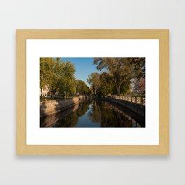 Lachine Canal Winding Framed Art Print