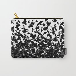 Raven Crow Flying Birds Abstract Goth Halloween Pattern Carry-All Pouch