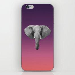 Polygonal elephant portrait iPhone Skin