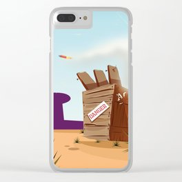acme rocket crate Clear iPhone Case