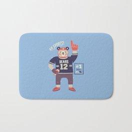 American Football Bear Bath Mat