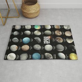 Moons Of Our Solar System Rug