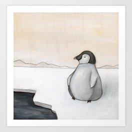 Wandering Penguin Art Print