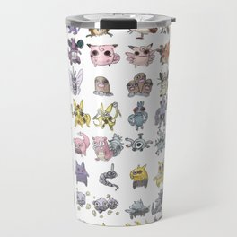 Pokémans! 151 Lazy-Drawn Pocket Monsters ( Travel Mug