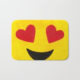 Heart Eyes - Emoji Minifigure Painting Bath Mat