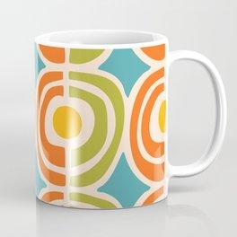 Mid Century Modern Solar Flares Pattern 2 Coffee Mug