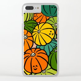 Halloween Pumpkins in Action Clear iPhone Case