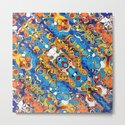 Orange And Blue Abstract by perkinsdesigns