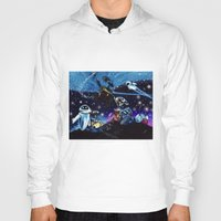 wall e Hoodies featuring Wall-E Collage by artbywilliam