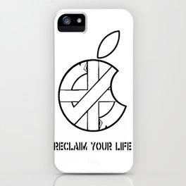 Reclaim Your Life W/B iPhone Case
