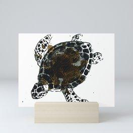 Single Seaturtle Mini Art Print