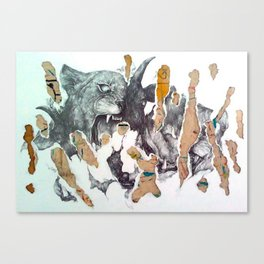 black goat Canvas Print