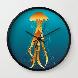 Yellow Jellyfish Wall Clock