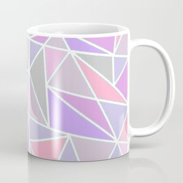 Pastel Shards Geometric Pattern Coffee Mug
