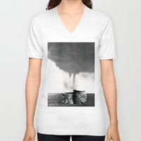 california V-neck T-shirts featuring California by Erin Case