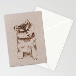 Husky puppy. Sketch. Stationery Cards