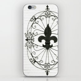Wrought Iron Fleur de Lis iPhone Skin