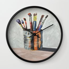 For The Love of Paint Wall Clock