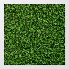 Green micropets Canvas Print