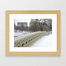 On Bow Bridge Framed Art Print