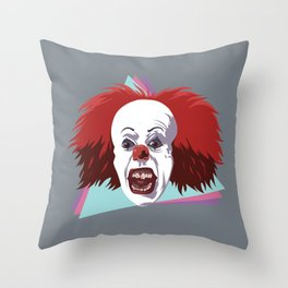 Evil clown it halloween Throw Pillow
