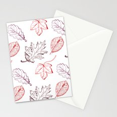 Leaves (reds) Stationery Cards
