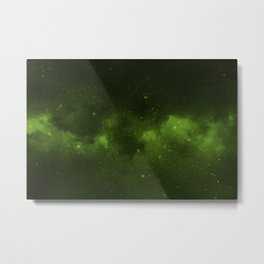 Fascinating view of the green cosmic sky Metal Print